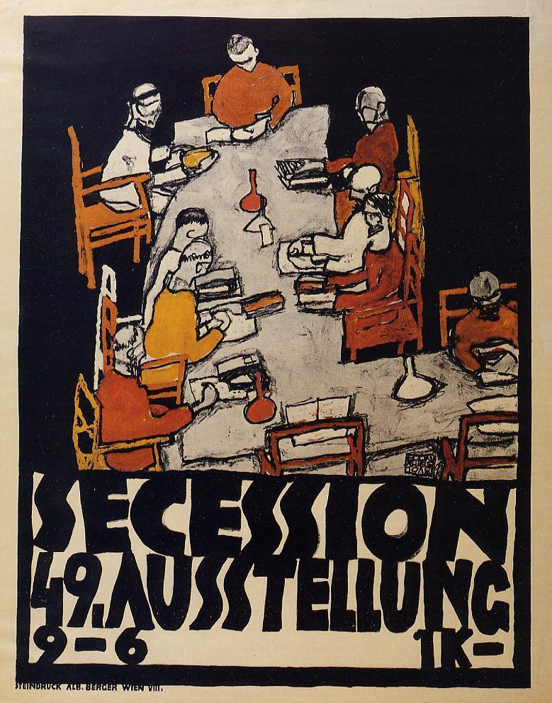 Egon Schiele - Secession exhibit poster 1918