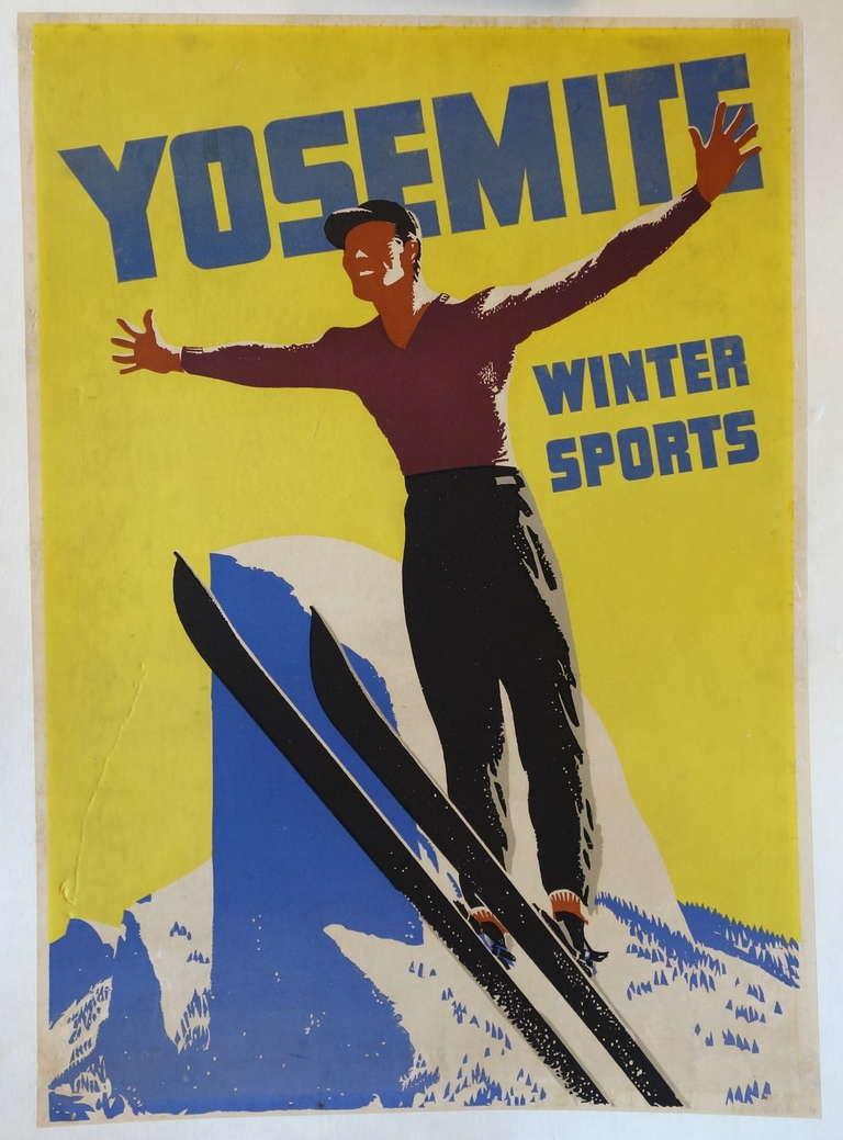 1930s Yosemite Tourism Poster